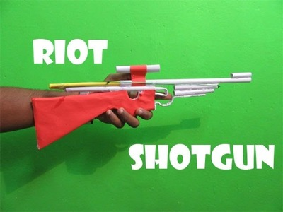 How to Make a Paper Poweful Riot Shotgun - Easy Tutorials
