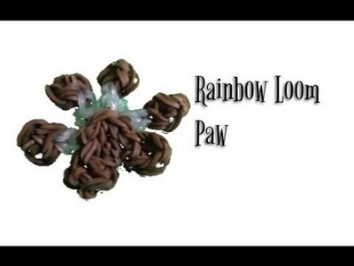 How to make a raianbow loom dog paw.