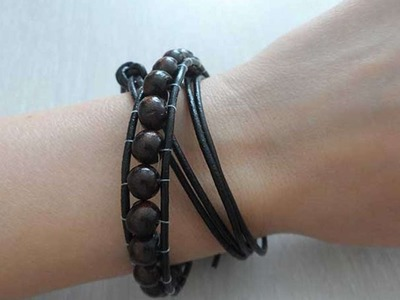 How To Make An Stylish Leather Bracelet - DIY Style Tutorial - Guidecentral