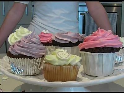How to make beautiful cupcakes
