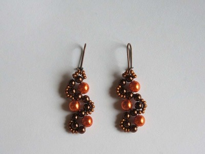 """How To Make Earrings From Beads """"Orange Chocolate"""" - DIY Crafts Tutorial - Guidecentral"""
