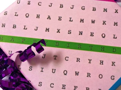 How To Make Fun Word Search Wrapping Paper - DIY Crafts Tutorial - Guidecentral