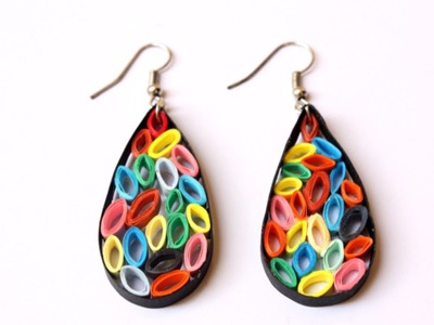 How To Make Funky Quilling Strip Earrings - DIY Style Tutorial - Guidecentral