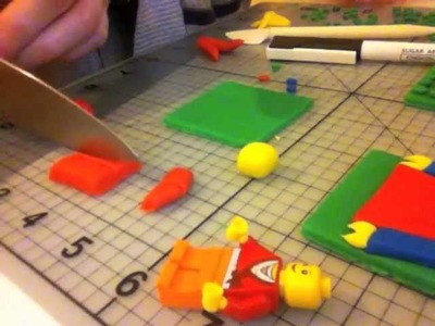How to make lego from fondant - part 3