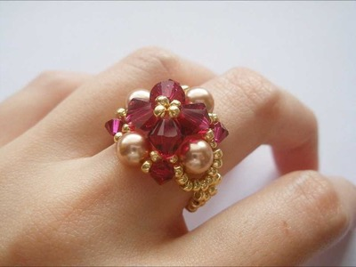 How to make Ruby Rose Pearl Golden Ring