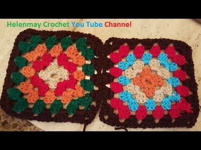How to sew crochet granny squares together DIY tutorial