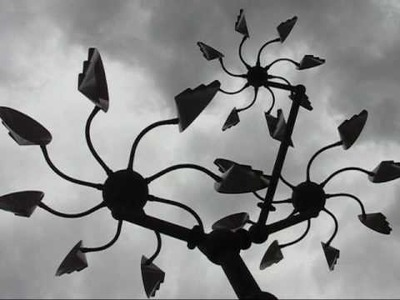 "Kinetic wind sculpture - ""Bonsai"""