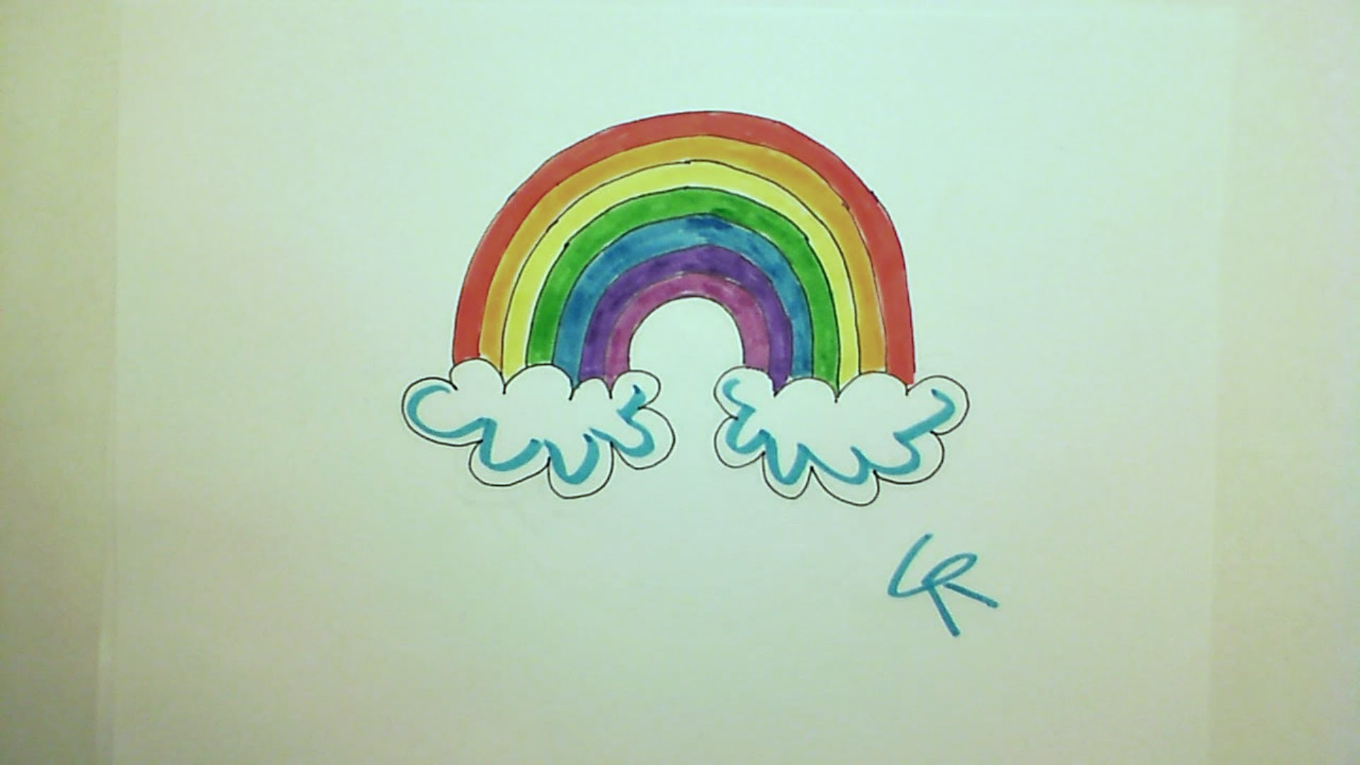 Learn How to Draw A Perfect Pretty Rainbow, Easy! -- iCanHazDraw!