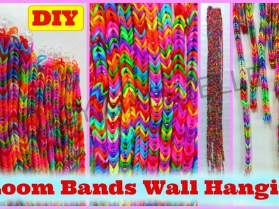 Loom Bands DIY Tutorial: Loom Bands Wall Hanging DIY Tutorial Without a Loom | Lucy Gabrielle