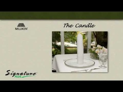 Napkin Folding Tutorial - How to fold a Candle napkin