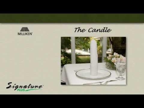 Napkin Folding Tutorial - How to fold a Candle napkin