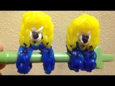 NEW Rainbow loom minion pencil hugger-original design