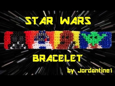 New Star Wars Bracelet - Alpha Loom. Rainbow Loom - R2D2, Darth Vader, Chewbacca, Yoda