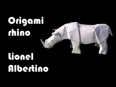 Origami rhino by Lionel Albertino - Part 1