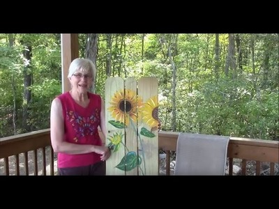 Paint a Sunflower to Hang on Your Porch