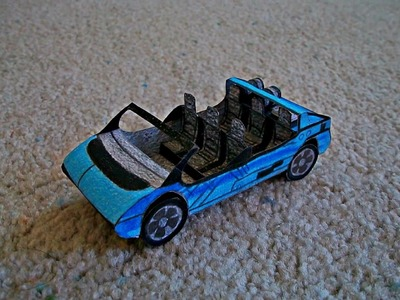Paper Model of The Test Track Ride Car at Disney's Epcot