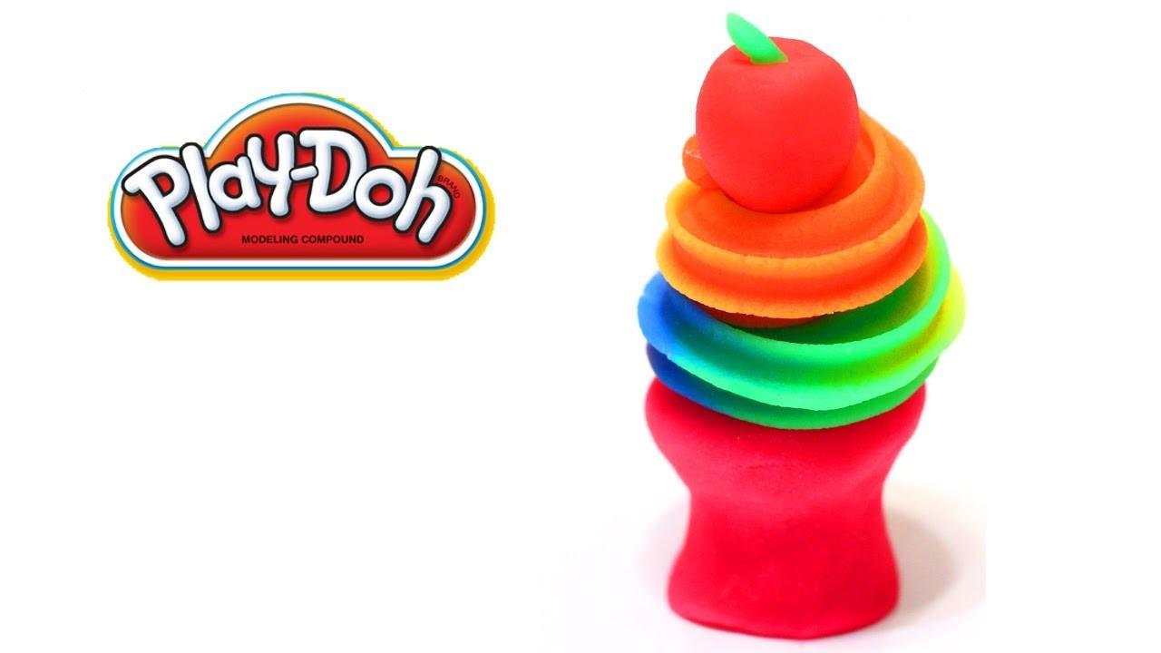 Play-Doh Rainbow Swirl Tutorial