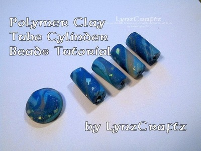 Polymer Clay Tube Cylinder Beads tutorial