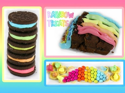 Rainbow  DIY Cake ♡ Homemade Oreo DIY Frosting Treats ♡ Quick & Fast Recipes