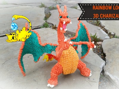 Rainbow Loom 3D Charizard Pokemon (Part 3.15)