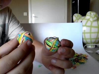 Rainbow loom balletje