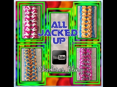 Rainbow Loom Band All Jacked Up Bracelet How To Tutorial