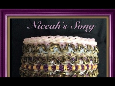 Rainbow Loom Band Niccah's Song Bracelet Tutorial.How To