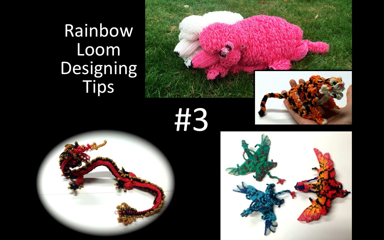 Rainbow Loom Designing Tips #3: Flat…3D…Double-Looped. Single?