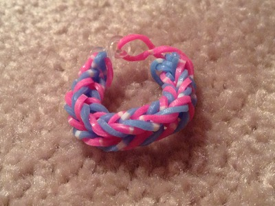 Rainbow Loom - Fishtail Bracelet.Ring (Easy)