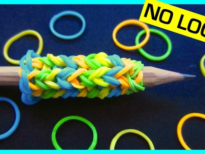 Rainbow Loom Pencil Grip without Loom. using 2 Forks
