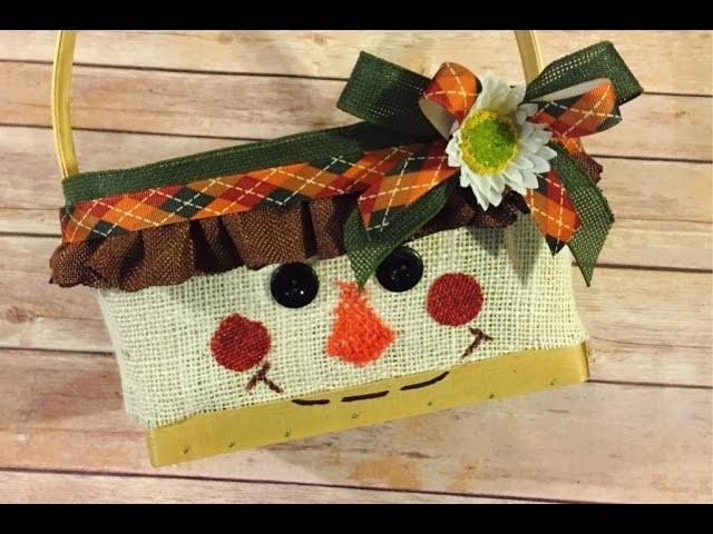 Scarecrow Basket DIY