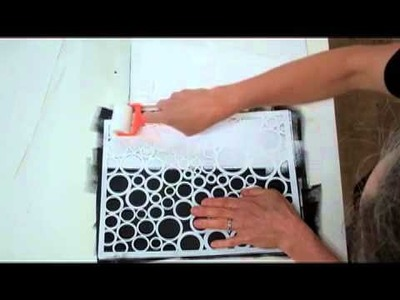 Stencils with a Sponge Roller