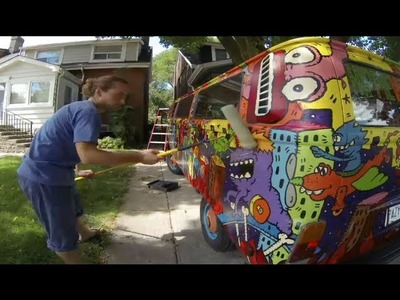 Time-lapse: Clear Coating The Hippie Van to Protect The Sweet Paint Job