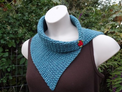 #Crochet Easy Beginner Vintage Style Scarf Cowl Wrap #TUTORIAL