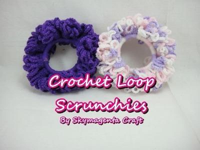 Crochet Tutorial - Loop Scrunchies