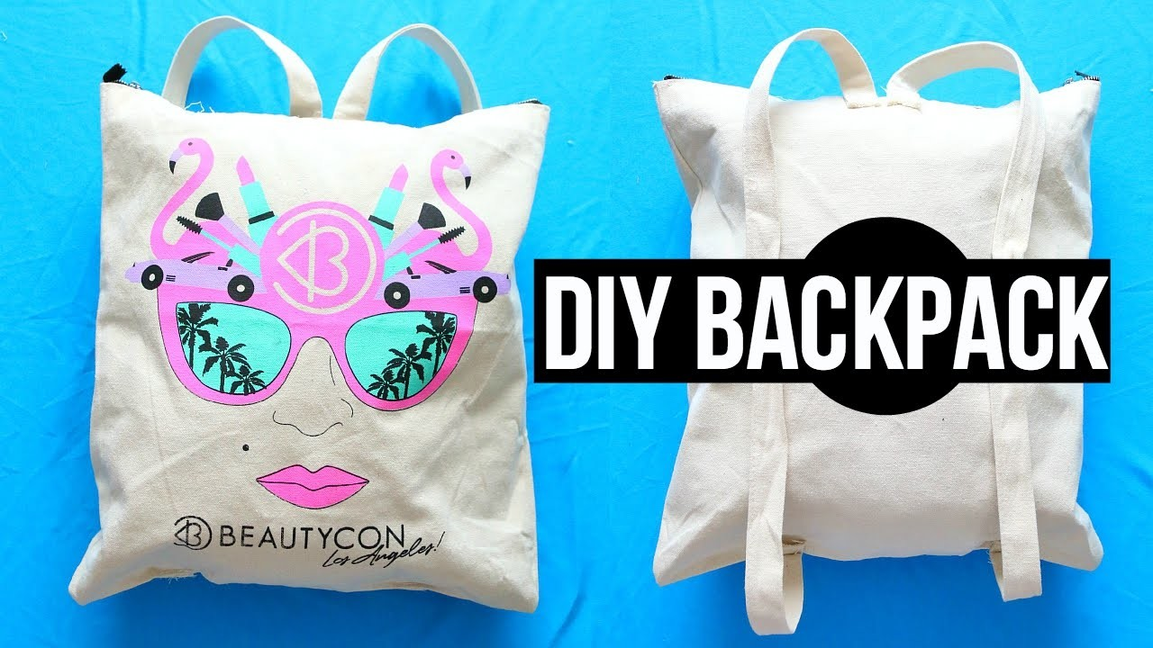 DIY Backpack from Tote Bag! Back to School 2015!