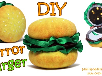 DIY Compact Mirror Burger – How To Make Pocket Mirror Hamburger
