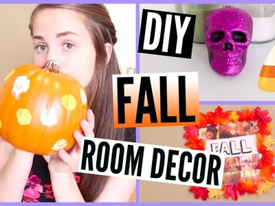 DIY Fall.Halloween Room Decor + Organization ♡