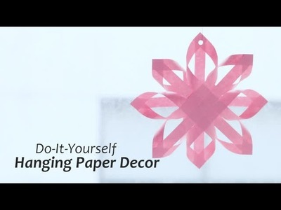 DIY : Hanging Paper Decor