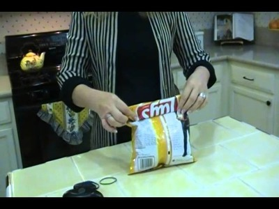 DIY How to Fold a Chip Bag without a Clip - Joni Hilton