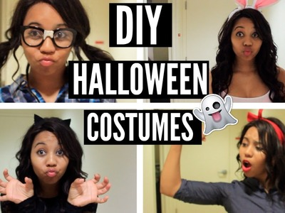 DIY Last Minute Halloween Costumes