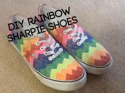 DIY Rainbow Sharpie Shoes