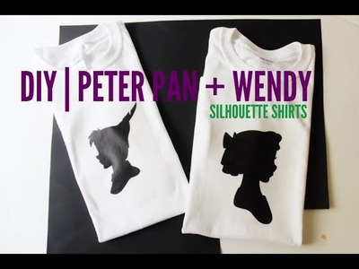 DIY| (Valentine's Day) Peter Pan + Wendy Silouette Shirts