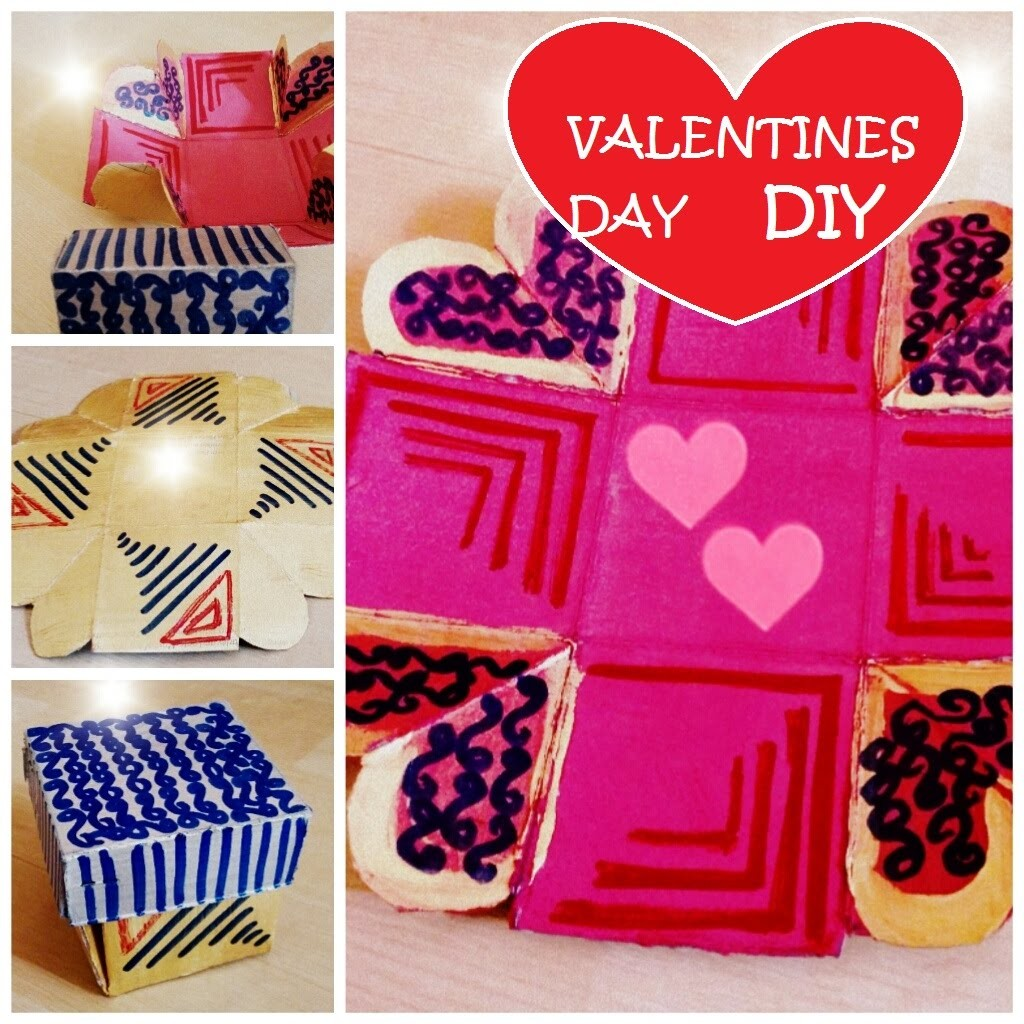 Diy Valentines Day Gift Exploding Love Box Easy And Quick
