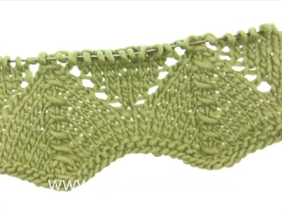 DROPS Knitting Tutorial: How to work lace pattern after chart A.1 in DROPS 165-22
