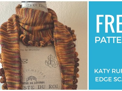 Easy Ruffle Scarf Free Knitting Pattern