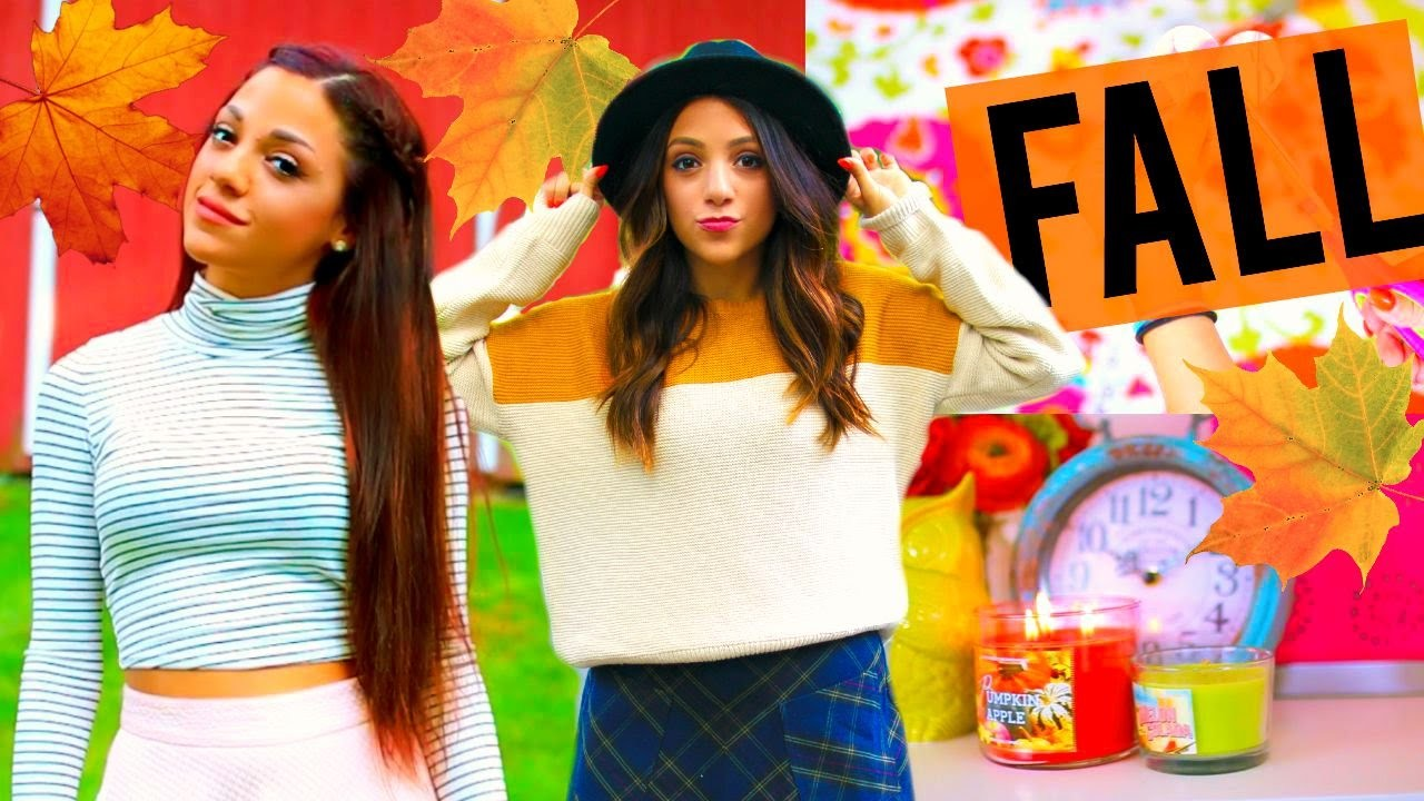 FALL 2015! DIY Room Decor, Outfit Ideas, Essentials + More! | Niki and Gabi