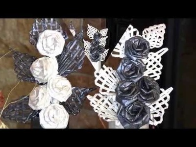 Handmade Flowers. A paper composition for Teacher's Day.  Part 1.