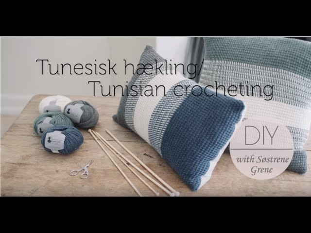 How to change yarn colour (right) in Tunisian Crochet by Pescno & Søstrene Grene