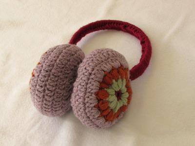 How to crochet EASY puff stitch earmuffs. ear warmers